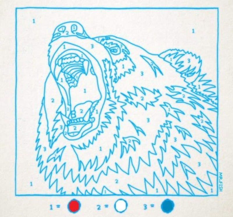 Russian Bear Painting by Numbers